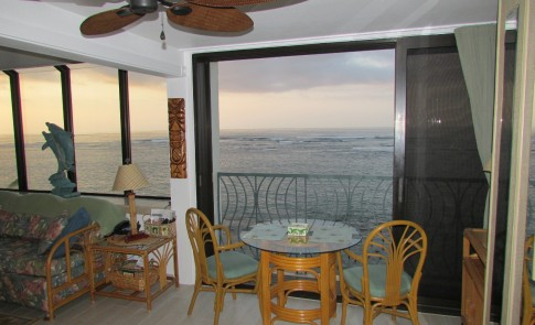 Ocean view through the lanai
