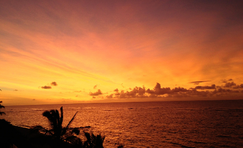 Just one of an infinity of beautiful sunsets seen from our lanai.